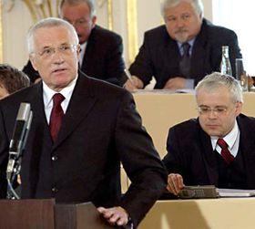 Václav Klaus in 2003, photo: CTK