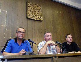 Miroslav Kalousek, Mirek Topolanek and Martin Bursik, photo: CTK