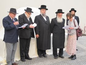 Ян Мунк, Карол Сидон и другие представители еврейских общин, Фото: Мартина Шнайбергова, Чешское радио - Радио Прага