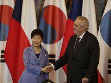 Park Geun-hye, Miloš Zeman, foto: ČTK
