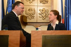 Petr Nečas aKarolína Peake, foto: ČTK