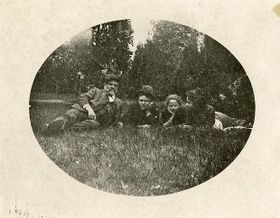 Antonín Dvořák mit seiner Familie in Vysoká bei Příbram