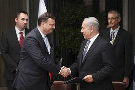 Petr Nečas y Benjamin Netanyahu, foto: ČTK