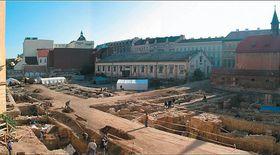 Umgebung der Straße Na Poříčí - archäologische Funde (Foto: Klub für das alte Prag)