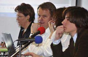 Martin Bursík (druhý zleva), Dana Kuchtová (vlevo) aMatěj Stropnický, foto: ČTK
