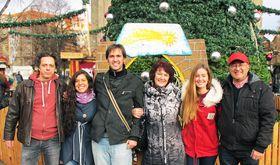 Redacción Iberoamericana de Radio Praga (de izquierda Roman Casado, Ana Briceño, Carlos Ferrer, Ivana Vonderková, Marta Guzmán y Freddy Valverde). Foto: Jiří Němec.
