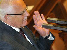 Václav Klaus přednesl 7. září na mimořádné schůzi Poslanecké sněmovny v Praze projev o směřování země, foto: ČTK