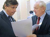 Jan Fischer et Eduard Janota, photo: CTK