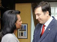 Condoleezza Rice and Michail Saakasvili, photo: CTK