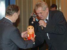 Milos Zeman con Viktor Mamasjev, Moskva, Foto: CTK
