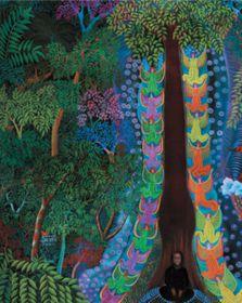 'Visiones y sueños de Ayahuasca' de Dimas Paredes Armas, foto: El Centro de Arte Egon Schiele