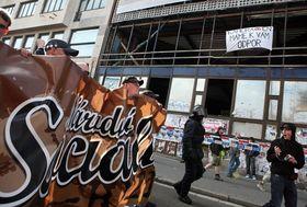 Демонстрация в Брно, 1 мая 2009 г. (Фото: ISIFA/ Lidové noviny, Томаш Гайек)