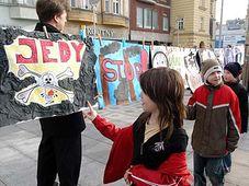 Proteste gegen Luftverschmutzung in Ostrava (Foto: ČTK)