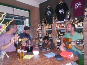 Rumbalgia - Domingo, Xavi, David y Albert, foto: Ana Briceño