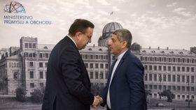 Jan Mládek, Ali Tayebnia, photo: CTK