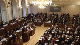 Miloš Zeman à la Chambre des députés, photo: ČTK/ Michal Krumphanzl