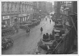 Rudá armáda osvobodila na konci druhé světové války města na Moravě ave Slezsku, foto: archiv města Ostravy