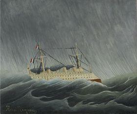 Pintura 'Tormenta en el mar', 1899, foto: Galería Nacional