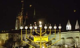 Menorah on Jan Palach Square, photo: CTK