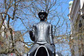 La statue de Franz Kafka à Prague, photo: Jekaterina Staševska