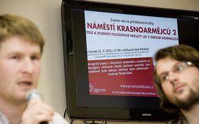 Prezentace knihy Náměstí Krasnoarmějců 2, foto: časopis Univerzity Karlovy iForum
