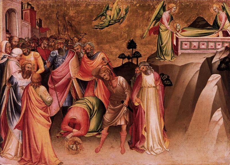 Казнь св. Екатерины, Лоренцо Монако (1395), фото: Creative Commons CC0