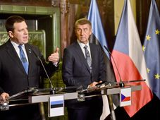 Jüri Ratas, Andrej Babiš, photo: ČTK/Vít Šimánek