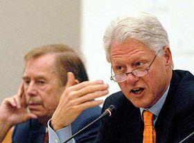 Vaclav Havel and Bill Clinton (right), photo: CTK