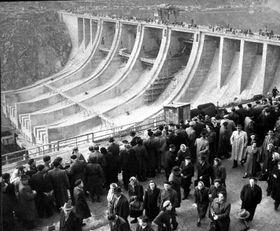 Le barrage de Slapy, le 7 novembre 1954, photo: CTK