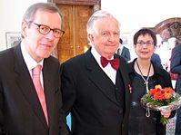 Von links: Helmut Elfenkämper, Kurt Krolop und Regina Krolop