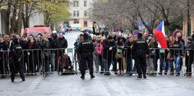 Из-за выступления президента полиция не пустила в район Альбертов студентов и прохожих, Фото: ЧТК