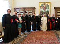 Le pape François recevait lundi au Vatican une délégation de représentants des Eglises catholique, hussite et évangélique tchèques, mais également de laïcs, photo: ČTK