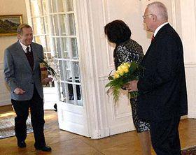 Václav Havel aVáclav Klaus, foto: ČTK