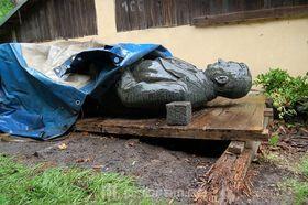 Статуя Клемента Готвальда, Фото: архив города Пршибрам