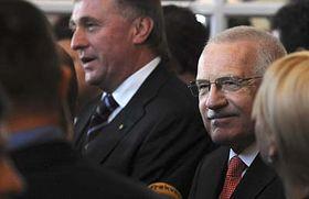 Mirek Topolánek aVáclav Klaus (vpravo), foto: ČTK