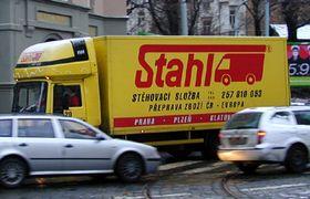 El camión de mudanzas en Praga, foto: archivo de Radio Praga