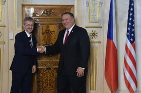 Miloš Vystrčil und Mike Pompeo (Foto: ČTK / Vít Šimánek)