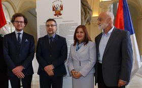 De izquierda: Ivo Krýsa, Martin Tlapa, Liliana de Torres-Muga y Josef Opatrný, foto: Embajada de Perú