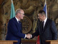 Simon Coveney, Tomáš Petříček, photo: ČTK/Kateřina Šulová