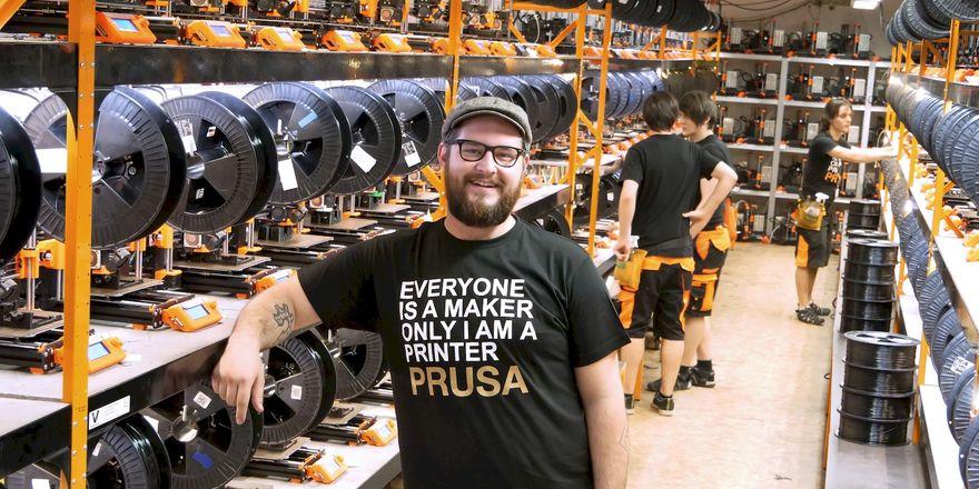 Josef Průša, photo: archive of Prusa Research
