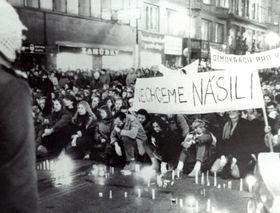 Národní třída, November 17, 1989, photo: archive of Memory of Nation