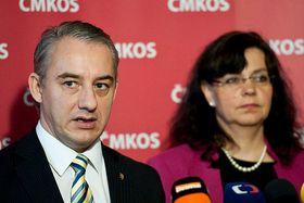Josef Středula et Michaela Marksová Tominová, photo: Filip Jandourek