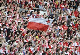 Hinchas del Slavia, foto: ČTK