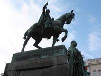 Svatý Václav na Václavském náměstí v Praze, pro mnohé symbol české státnosti