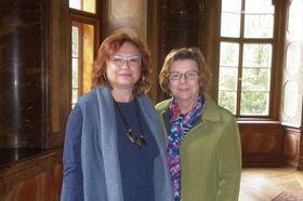 Jaroslava Malíková (vlevo) aNina Provaan Smetanová, foto:  Zdeňka Kuchyňová