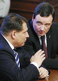 Jiří Paroubek (vlevo) sDavidem Rathem, foto: ČTK