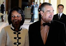Condoleezza Rice y Karel Schwarzenberg (Foto: CTK)