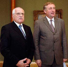 Václav Klaus y Mirek Topolanek (Foto: CTK)