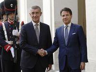 Andrej Babiš et Giuseppe Conte, photo: Andrew Medichini/AP Photo/ČTK