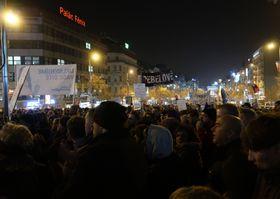 Eine der Demonstrationen gegen Premier Andrej Babiš (Foto: Martina Schneibergová